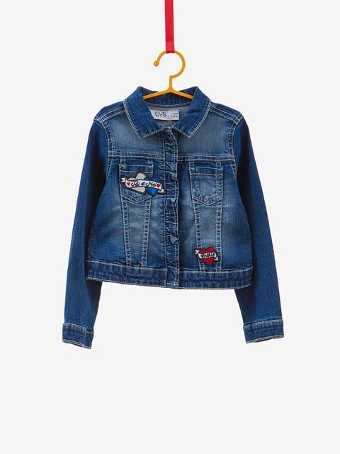 Куртка синяя джинсовая с аппликациями Oviesse 4534212