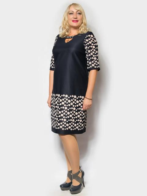 Платье темно-синее в горох LibeAmore 4556448