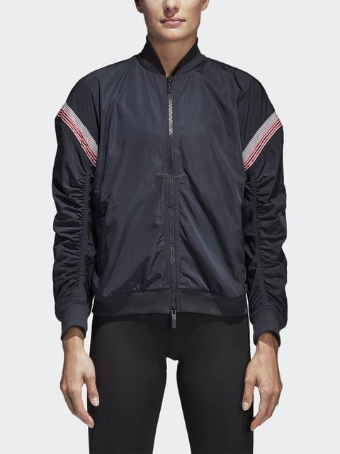 Бомбер чорний Adidas 4502462