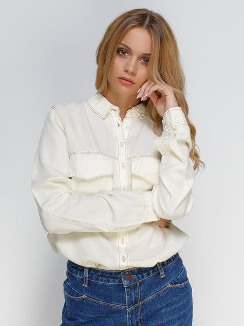 Рубашка молочного цвета Stradivarius 4509647