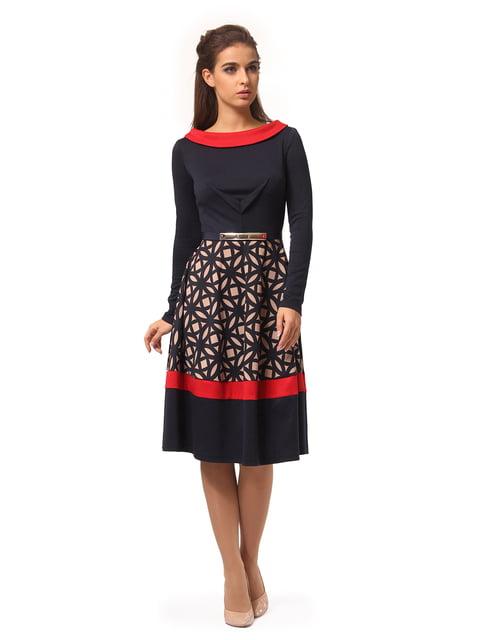 Платье темно-синее в принт Lada Lucci 4409812