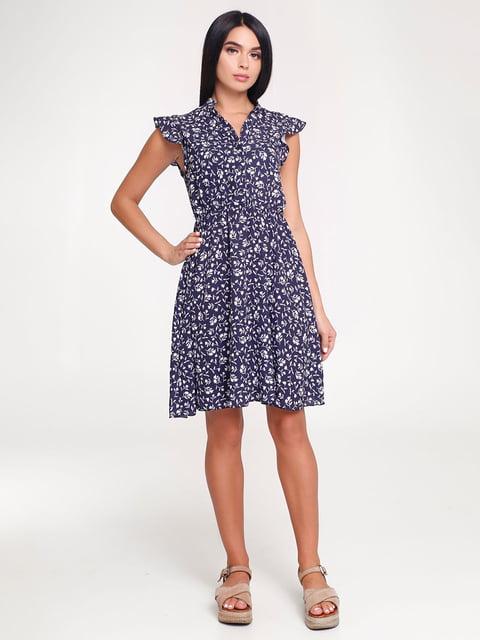 Платье темно-синее в принт Favoritti 4463720