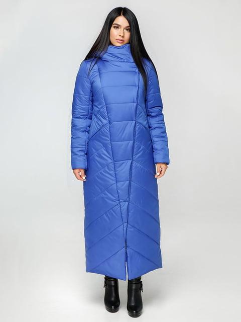 Пальто кольору електрик Favoritti 4531170