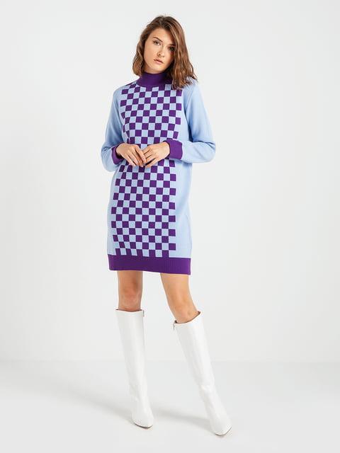 Сукня блакитна у шахову клітинку BGN 4574969