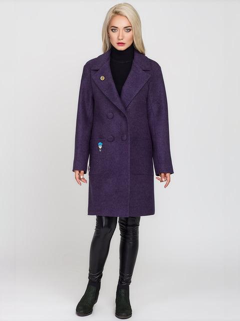 Пальто сливового кольору Leo Pride 4575379