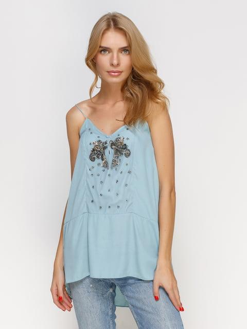 Майка блакитна Zara 4507509