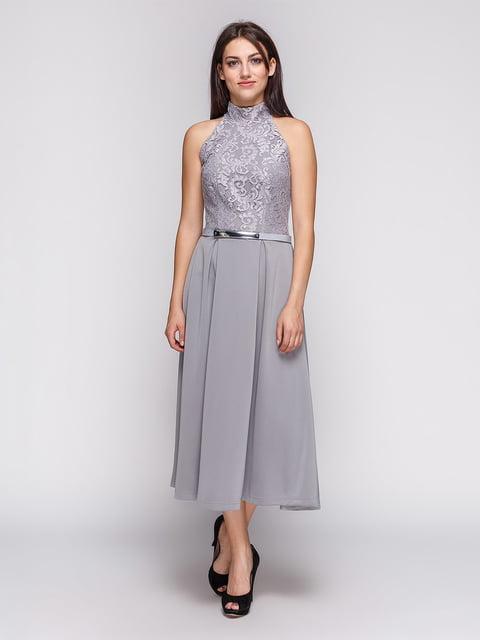 Платье серое LILA KASS 3851914