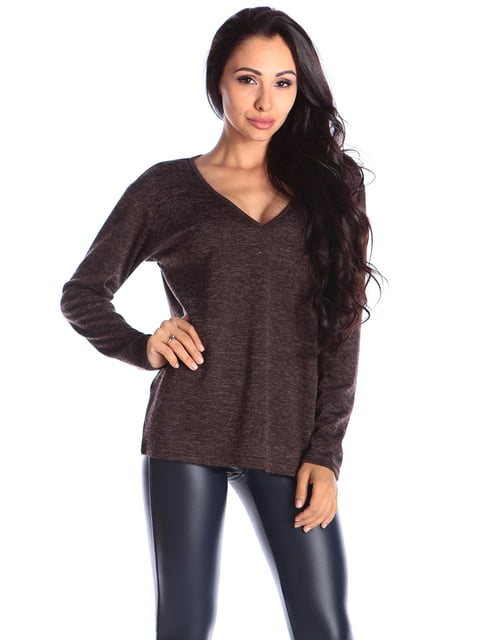 Пуловер шоколадного кольору Laura Bettini 4579684