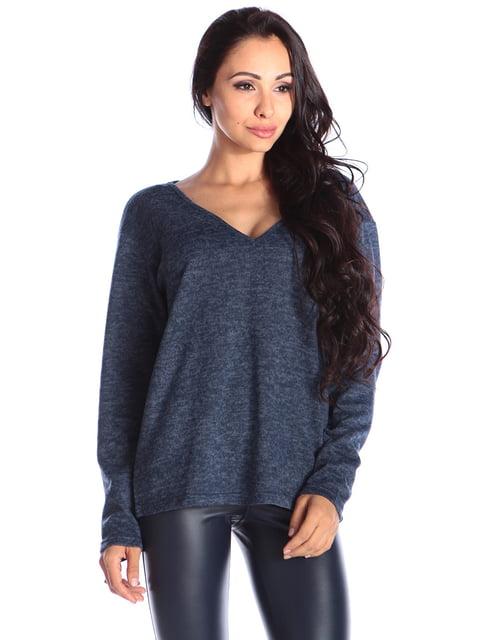 Пуловер темно-синій Laura Bettini 4579686