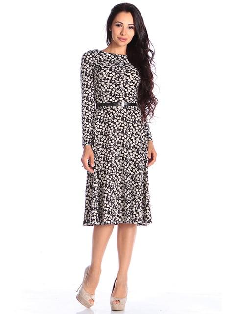 Платье в принт Laura Bettini 4579700