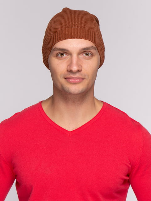Шапка рыжего цвета Zara 4506982