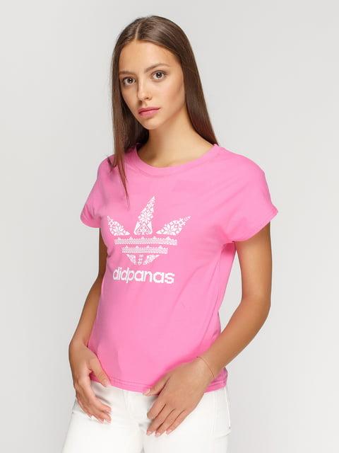 Футболка розовая с принтом Manatki 4578122