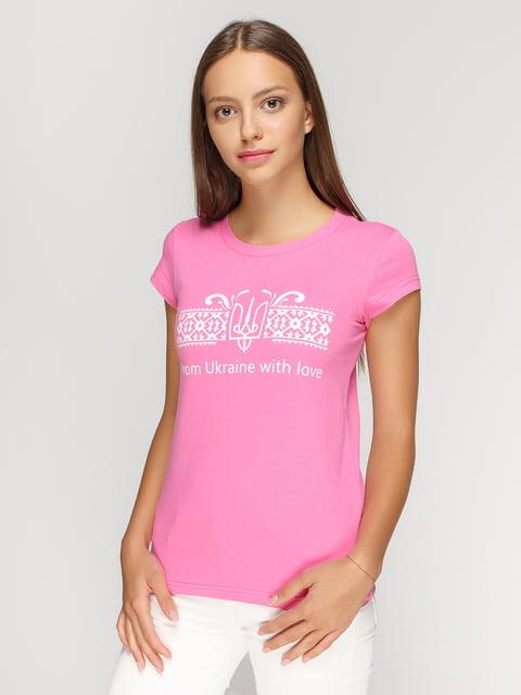 Футболка розовая с принтом Manatki 4578076