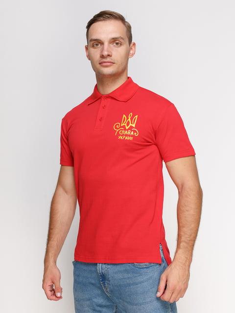 Футболка-поло красная с принтом Manatki 4578514