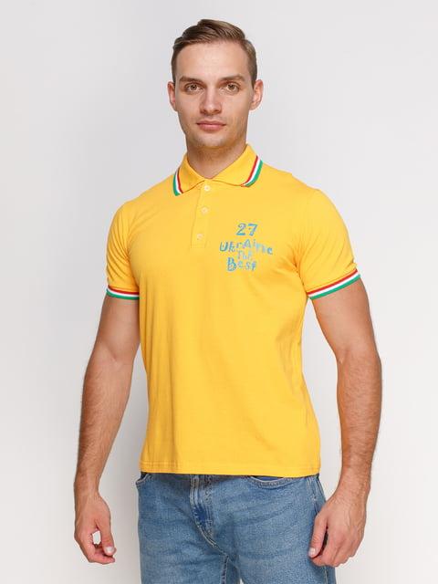 Футболка-поло желтая с принтом Manatki 4578477