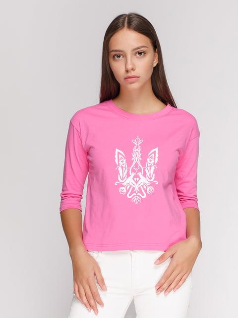 Лонгслив розовый с принтом Manatki 4578144