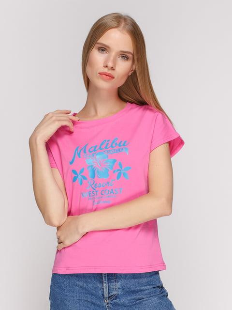 Футболка розовая с принтом Manatki 4578224