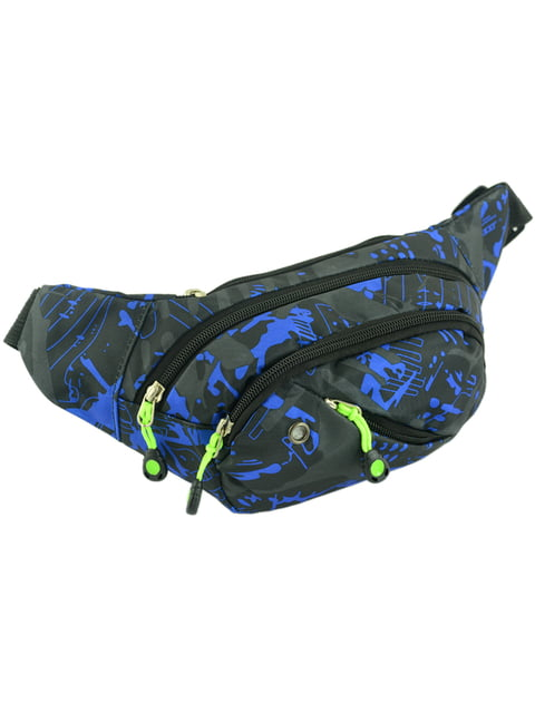 Сумка чорно-синя Traum 4582250