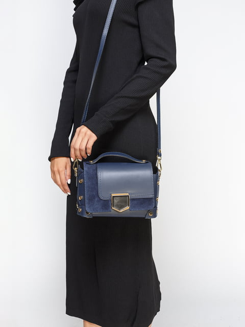 Сумка-клатч з синього кольору Marc Vero Maxxi 4577637