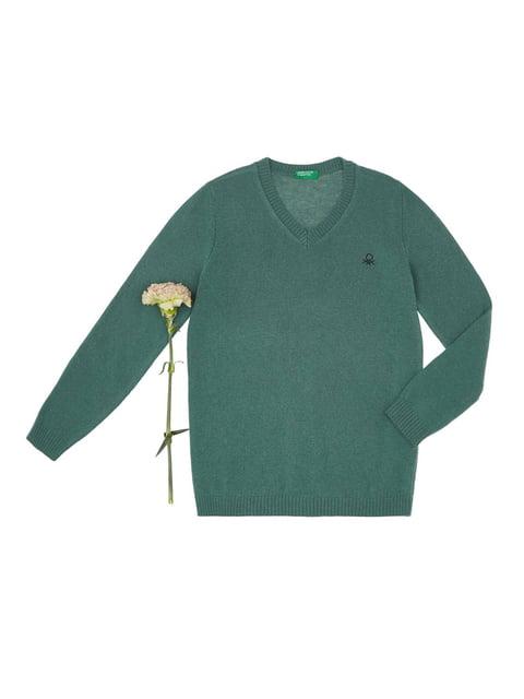 Пуловер зелений Benetton 4427817