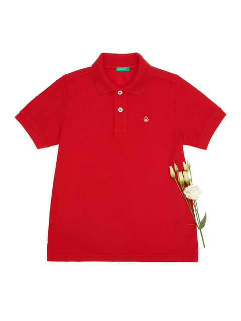 Футболка-поло червона Benetton 4427876