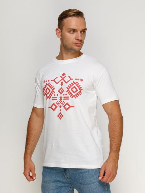 Футболка белая с принтом Manatki 4577859