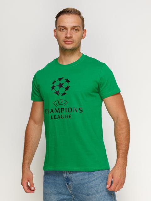 Футболка зеленая с принтом Manatki 4577897