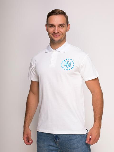 Футболка-поло белая с принтом Manatki 4583042