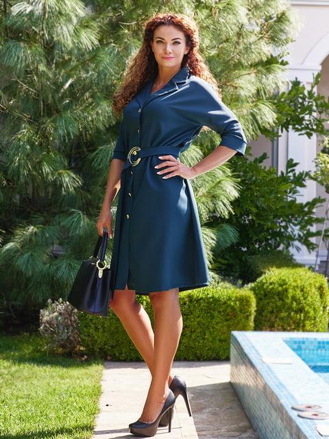 Сукня з поясом смарагдового кольору Marc Vero Maxxi 4555880