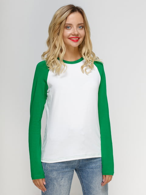 Реглан бело-зеленый Manatki 4577825