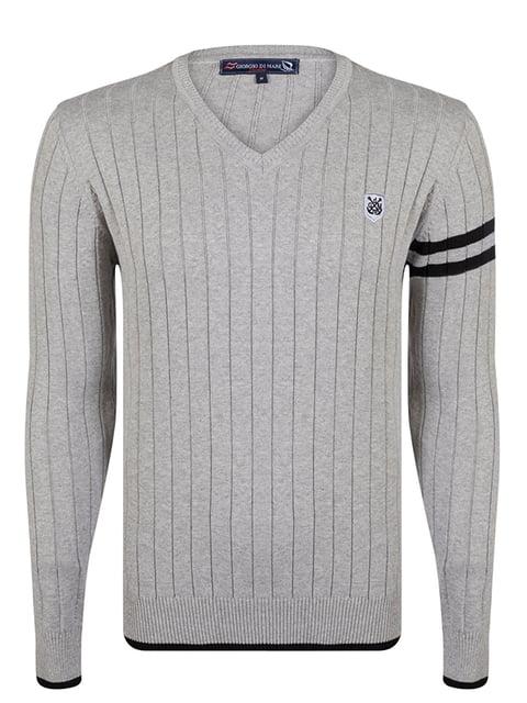 Пуловер сірий Giorgio di Mare 4489261