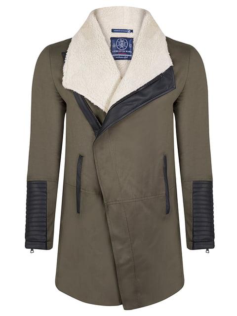 Пальто цвета хаки Giorgio di Mare 4592764