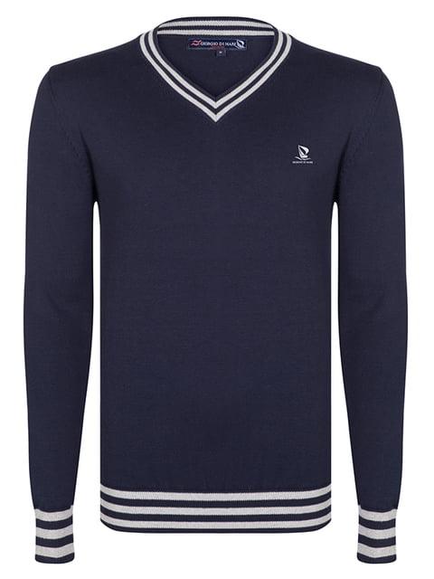 Пуловер темно-синий Giorgio di Mare 4592787