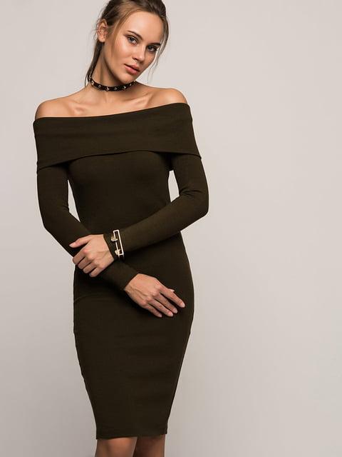 Сукня кольору хакі Cottonmood 4596537