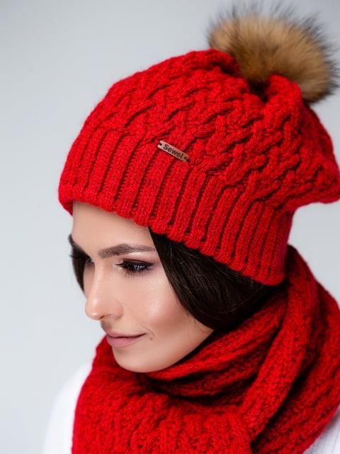 Шапка червона Sewel 4519993