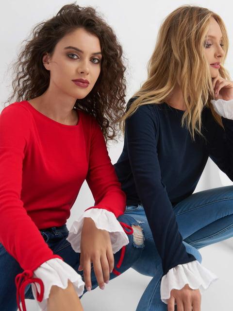 Лонгслив красный Orsay 4580414