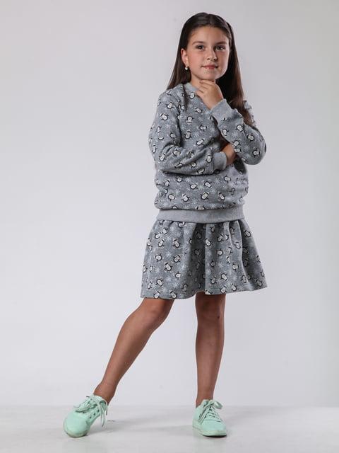 Джемпер серый с принтом Kids Couture 2848826