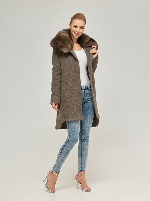 Пальто цвета капучино Mila Nova 4603628