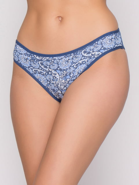 Трусы синие с цветочным принтом Nicoletta 4601753