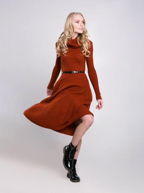 Платье терракотового цвета Sewel 4349509