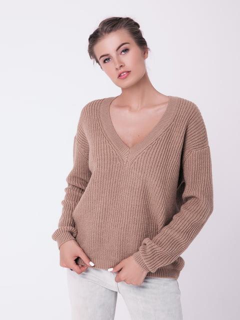 Пуловер цвета кэмел Sewel 4519941