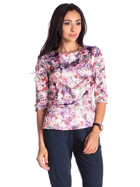 Блуза в принт Laura Bettini 4599564