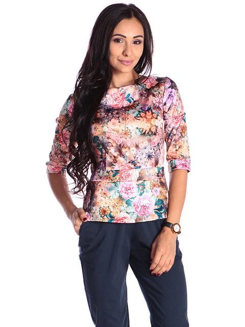 Блуза в принт Laura Bettini 4610402