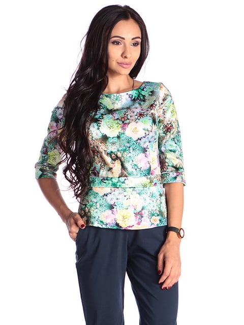 Блуза в принт Laura Bettini 4610403