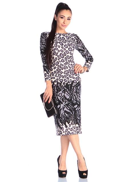 Платье в принт Laura Bettini 4610407
