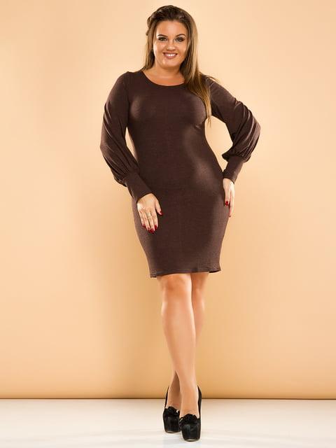 Платье коричневое ELFBERG plus size 4614143