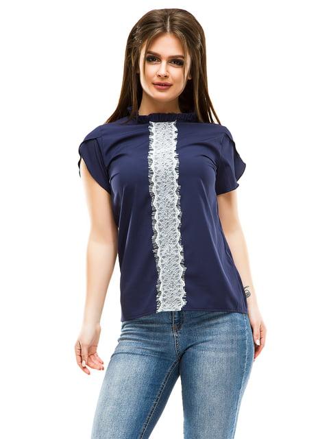 Блуза темно-синя ELFBERG 4613514