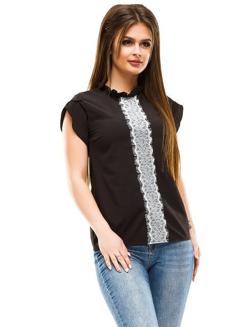 Блуза чорна ELFBERG 4613517