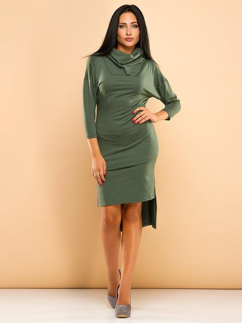 Сукня кольору хакі ELFBERG 4613603
