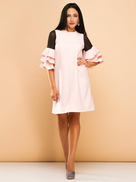 Сукня кольору пудри ELFBERG 4613693